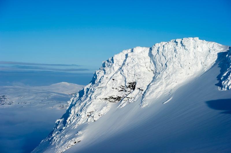 skier Martin Webrant in Lappland, Sweden