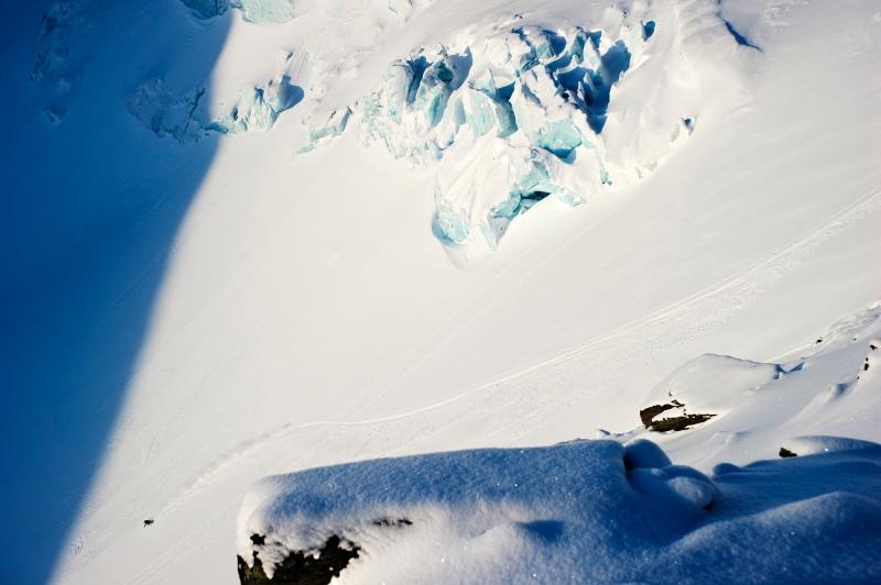 skier Joakim Croy in Lappland, Sweden