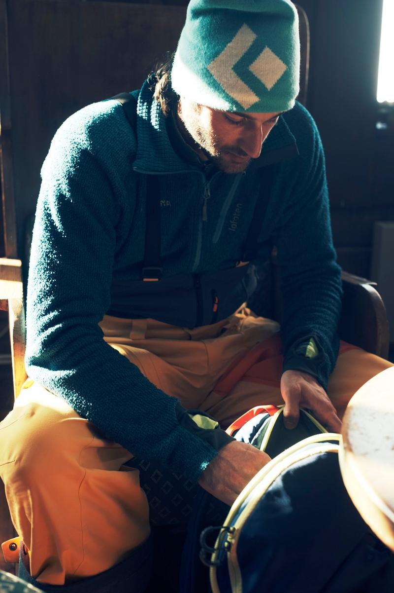 Thomas Gaisbacher at the Luoktatjåkka hut in Lappland, Sweden