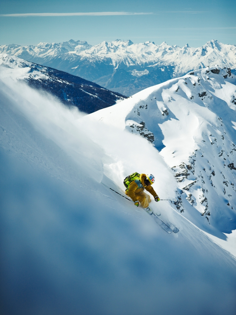 skier: Stefano Sciuto in Val d'Anniviers, Switzerland shot with Phase One IQ160 medium format!